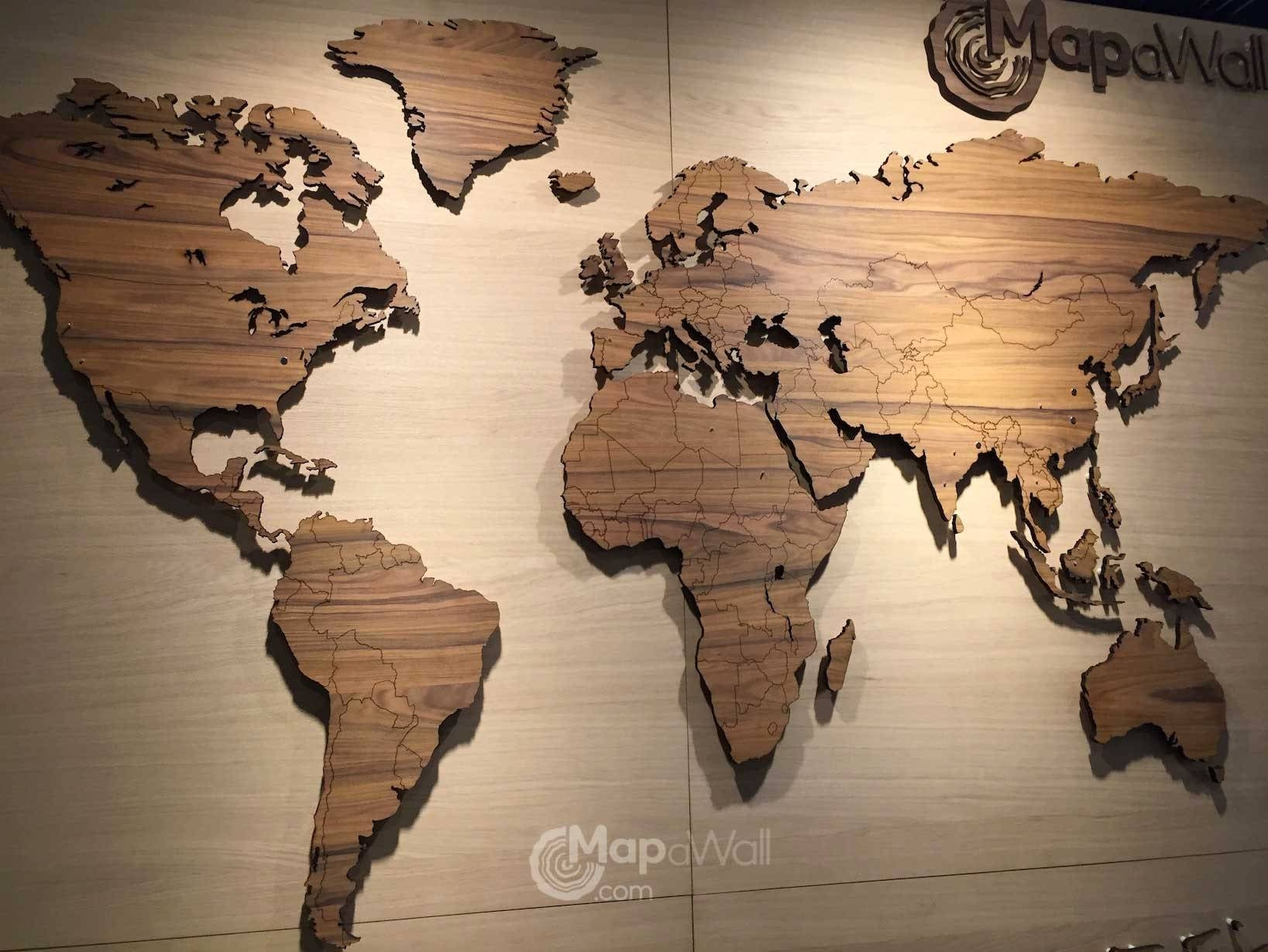 Wooden World Map Wall Art   Modern Home With Most Current Wooden World Map Wall Art (View 18 of 20)