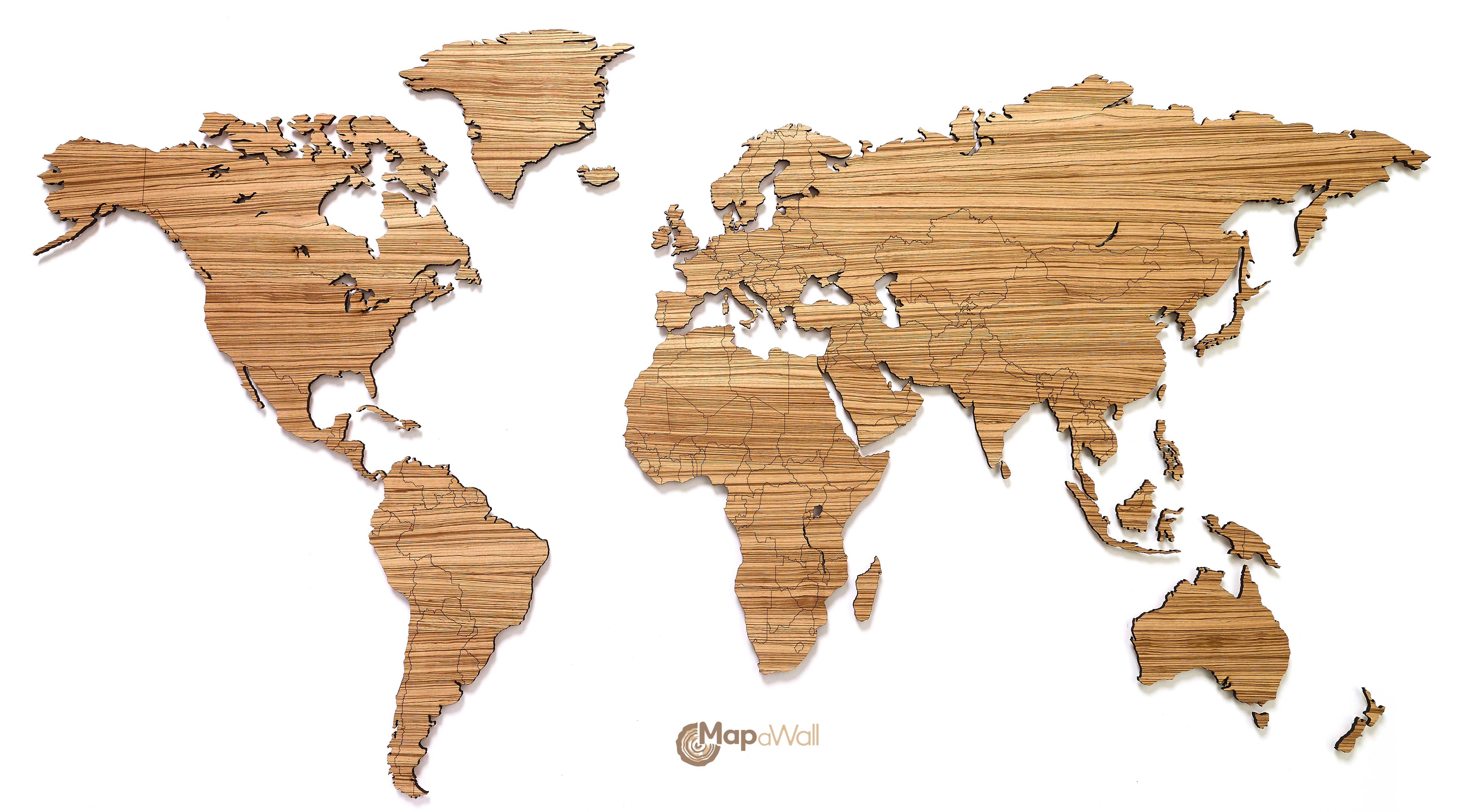 Featured Photo of Wooden World Map Wall Art