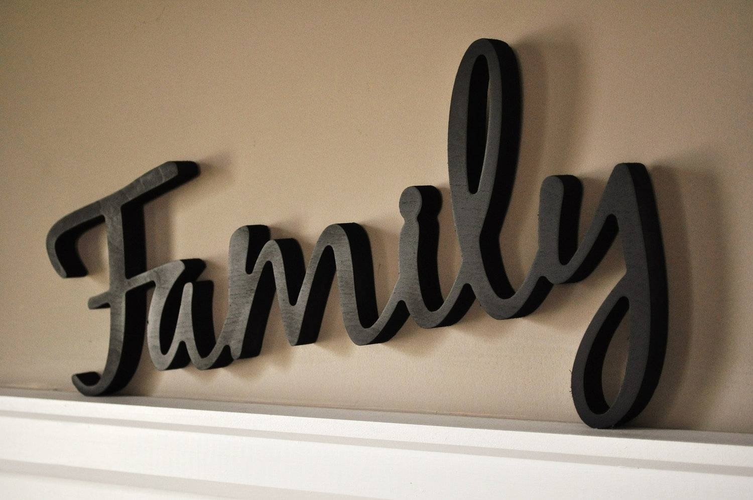 Word Art Wood 3d Cutout Familymrc Wood Products Throughout Current Wooden Words Wall Art (Gallery 1 of 30)