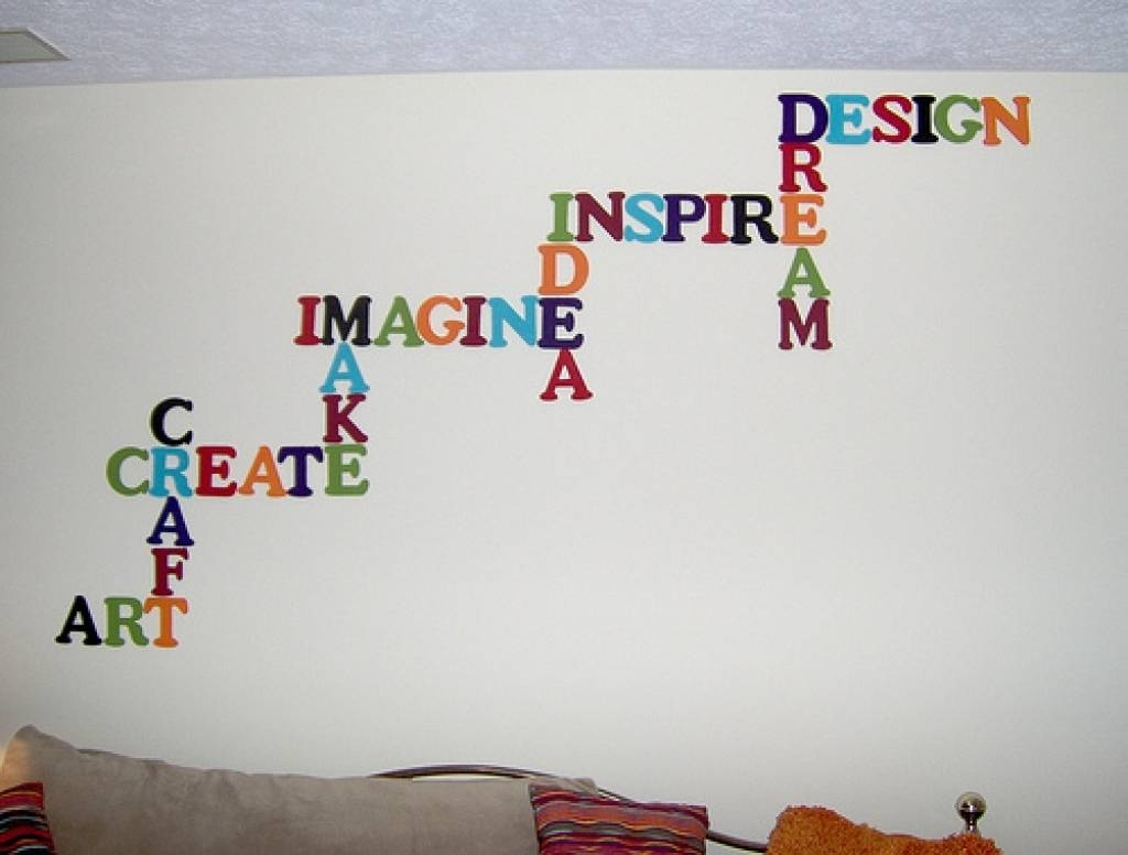 Word Wall Decorations Memory Photo Frame Wall Art Word Stickers Inside 2017 3d Wall Art Words (View 17 of 20)