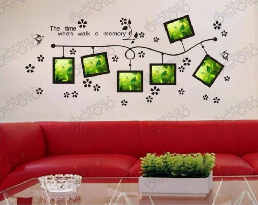 Word Wall Decorations Memory Photo Frame Wall Art Word Stickers Intended For 2017 3d Wall Art Words (View 4 of 20)
