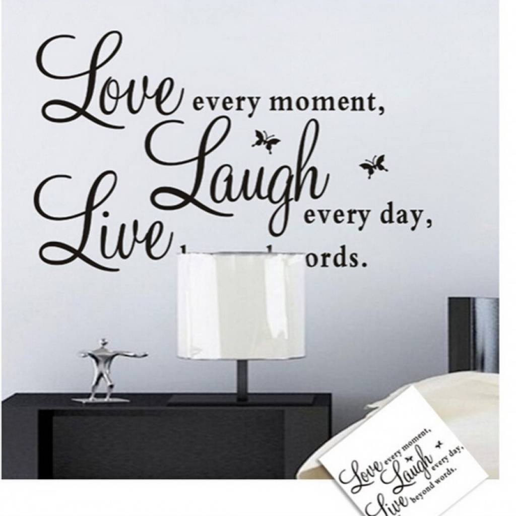 Word Wall Decorations Memory Photo Frame Wall Art Word Stickers Intended For Newest 3D Wall Art Words (View 18 of 20)