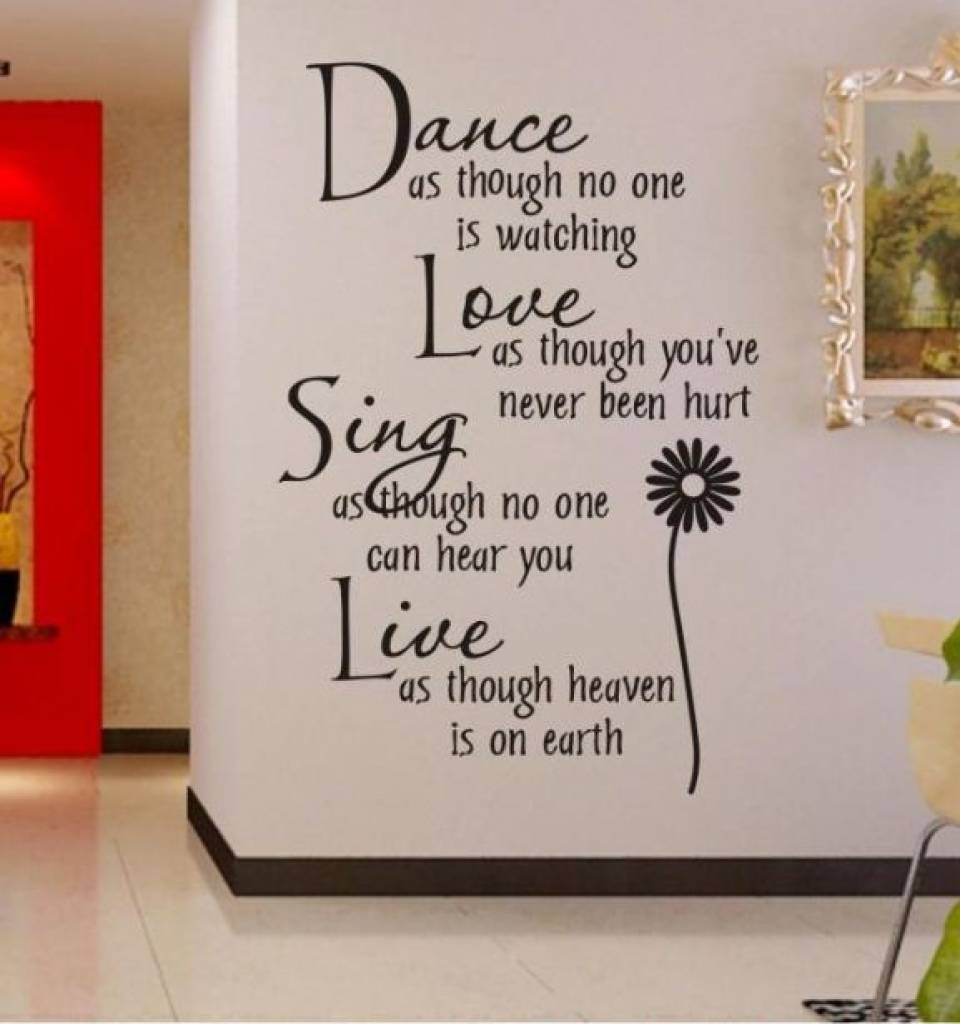 Word Wall Decorations Memory Photo Frame Wall Art Word Stickers Intended For Recent 3D Wall Art Words (View 19 of 20)