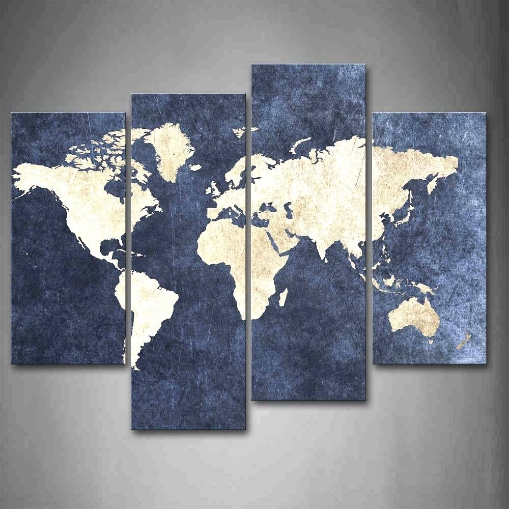 World Map Canvas Wall Art Framed Maps Sydney At | Justeastofwest Intended For 2017 Framed World Map Wall Art (View 17 of 20)