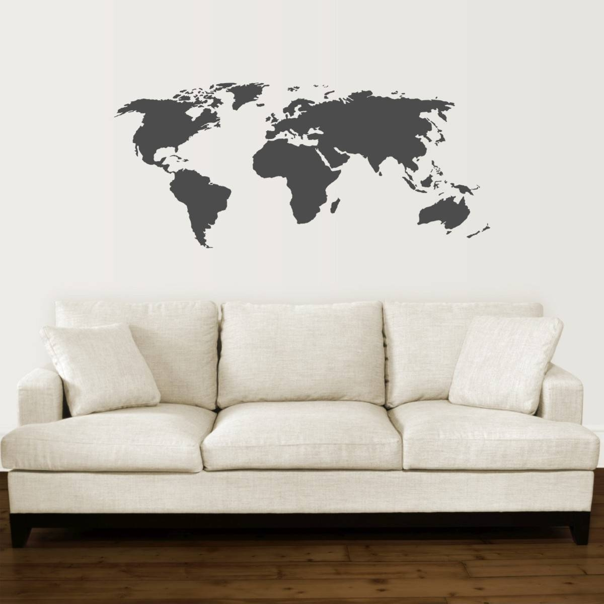 World Map Wall Quotes™ Wall Art Decal | Wallquotes Intended For Most Popular Map Wall Art (View 8 of 25)