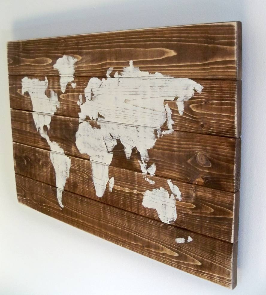 World Map Wood Art Russia Ukraine And Prague New Wall Inside 2017 World Map Wood Wall Art (View 8 of 20)