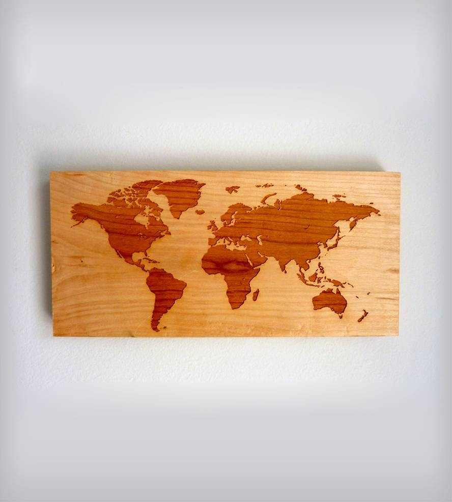 World Map Wood Wall Art | Inactive Pinterest Picks | Richwood For Best And Newest Map Wall Art (View 1 of 25)