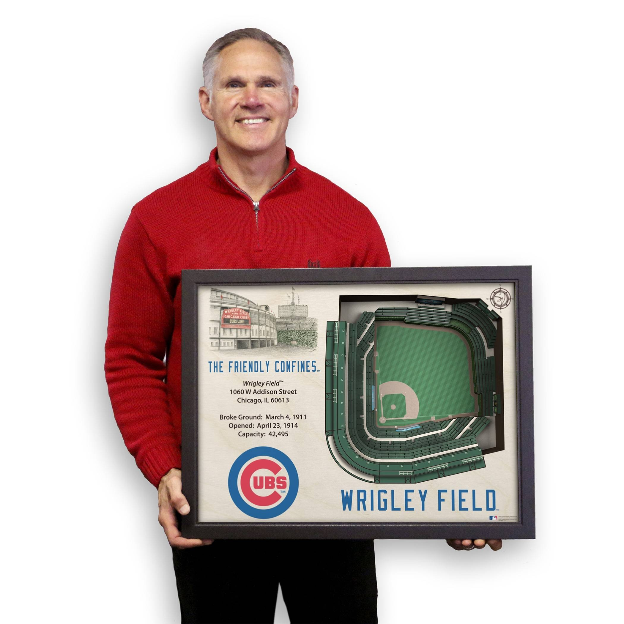 Wrigley Field 3d Stadium Wall Art | Chicago Tribune Store Intended For Most Popular 3d Stadium View Wall Art (View 2 of 20)