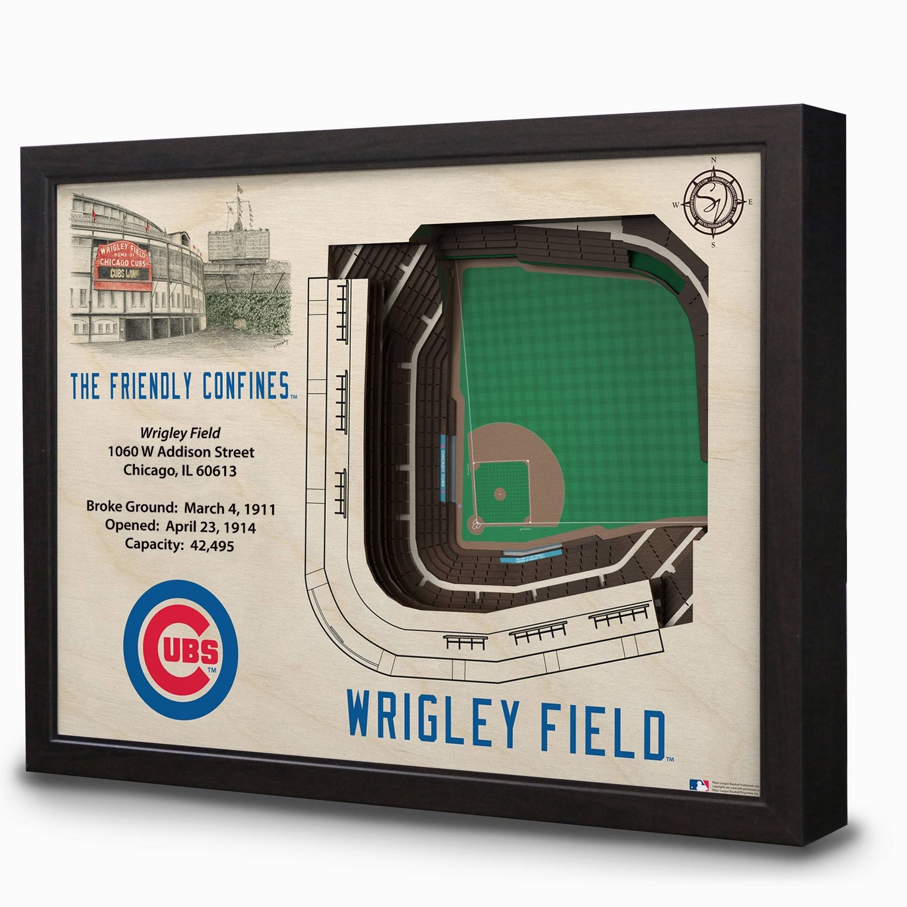 Wrigley Field 3D Stadium Wall Art | Chicago Tribune Store Pertaining To Newest Electronic Wall Art (View 24 of 25)