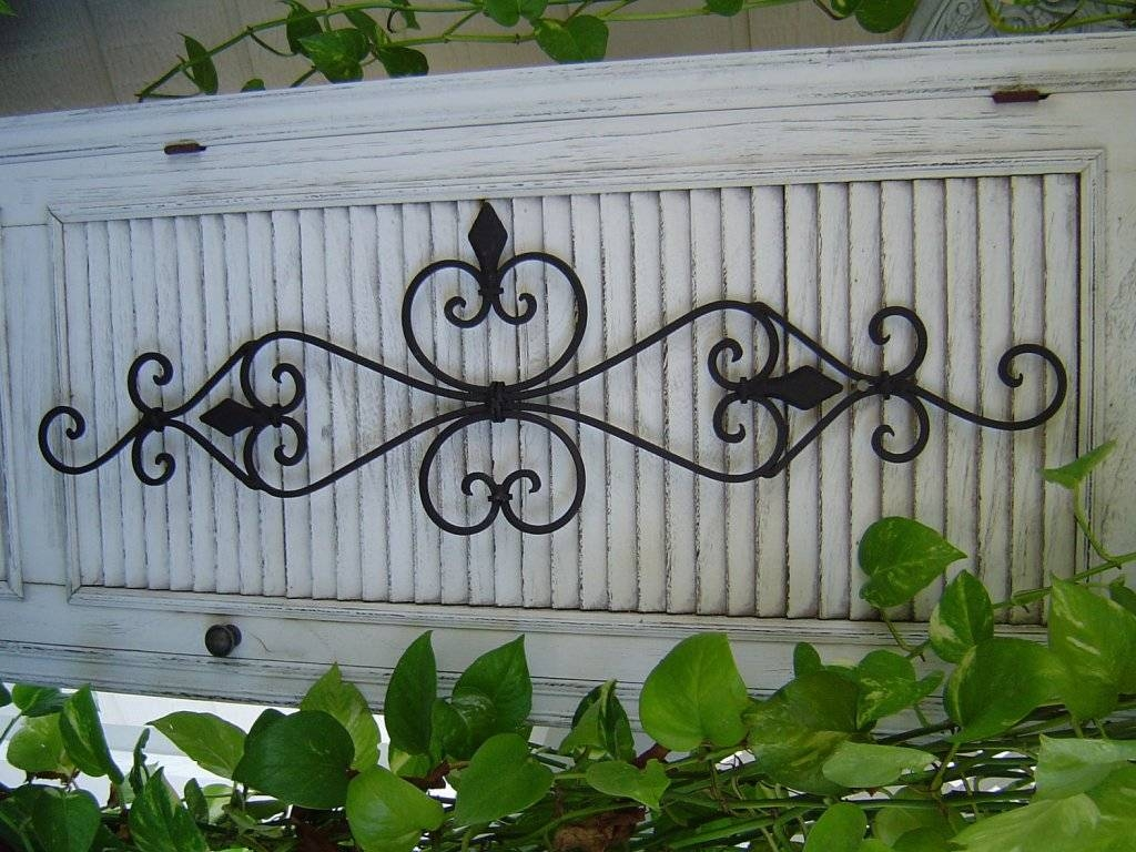 Wrought Iron Wall Art Garden : Attractive Wrought Iron Wall Art Regarding Most Popular Faux Wrought Iron Wall Art (View 29 of 30)