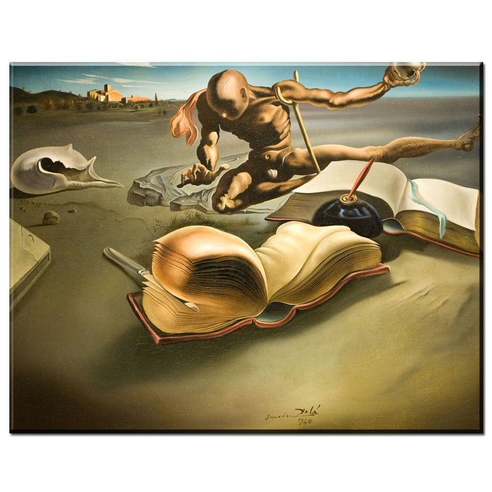Xdr573 Salvador Dali Surrealism Abstract Painting People In Sky Regarding Most Popular Salvador Dali Wall Art (View 19 of 20)