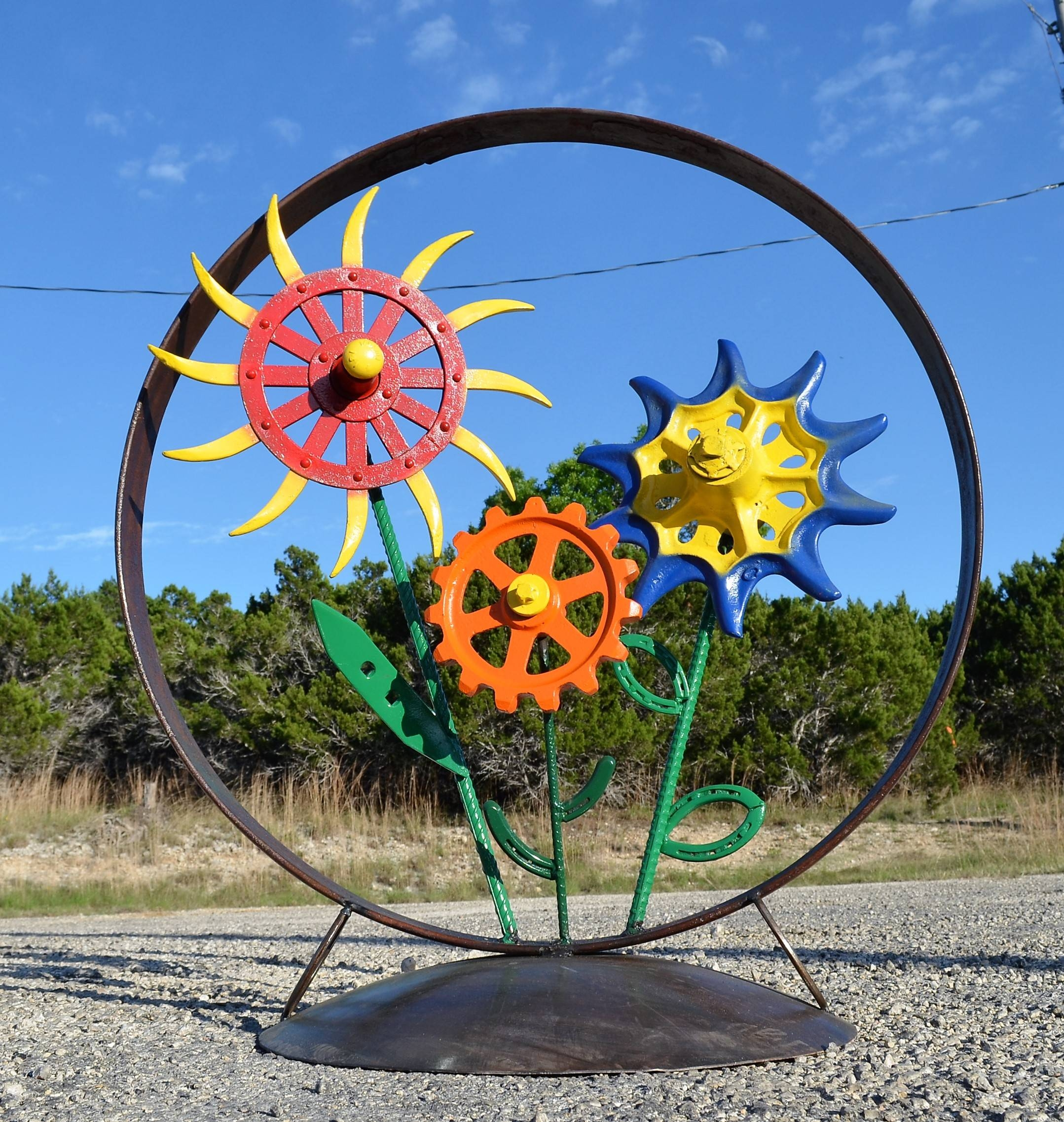 Yard Art – Sycamore Creek Creations Regarding Newest Metal Sunflower Yard Art (View 26 of 26)