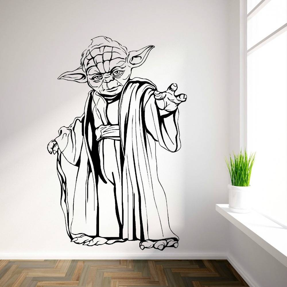 Yoda Star Wars Vinyl Wall Art Room Sticker Decal Movie Themed Wall For Recent Modern Vinyl Wall Art (View 14 of 14)