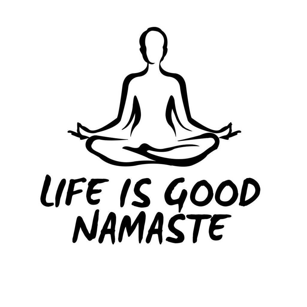 "Yoga Love Shop On Twitter: ""life Is Good Namaste Yoga Zen Nameste For Newest Life Is Good Wall Art (Gallery 19 of 30)"