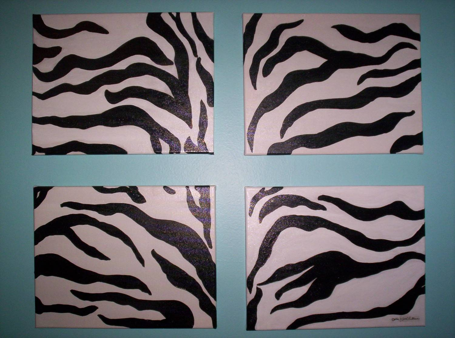 Zebra Print Wall Decor : Zebra Wall Decor Idea – Room Furniture Ideas With Regard To Best And Newest Zebra Wall Art Canvas (View 5 of 25)