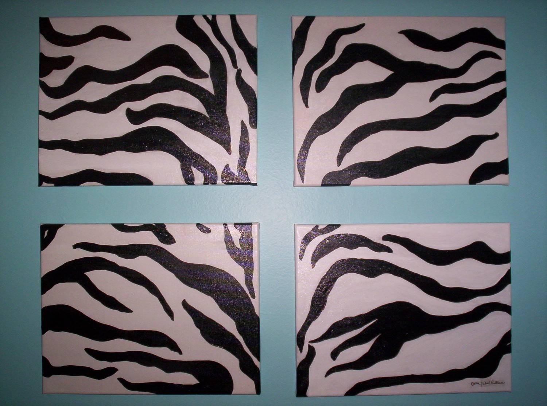Zebra Print Wall Decor : Zebra Wall Decor Idea – Room Furniture Ideas With Regard To Best And Newest Zebra Wall Art Canvas (Gallery 5 of 25)