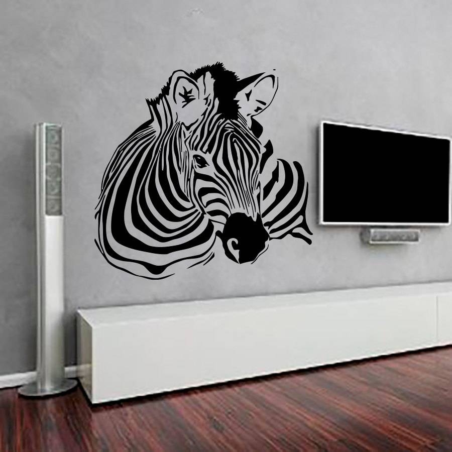 Zebra Wall Decals | Roselawnlutheran With Recent Zebra 3d Wall Art (View 9 of 20)