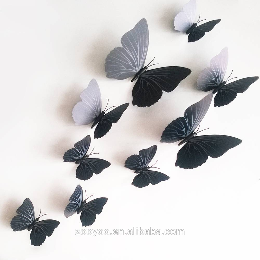 Zooyoo 3D Butterfly Wall Sticker Art Design Decal Home Decor Room intended for Current 3D Removable Butterfly Wall Art Stickers