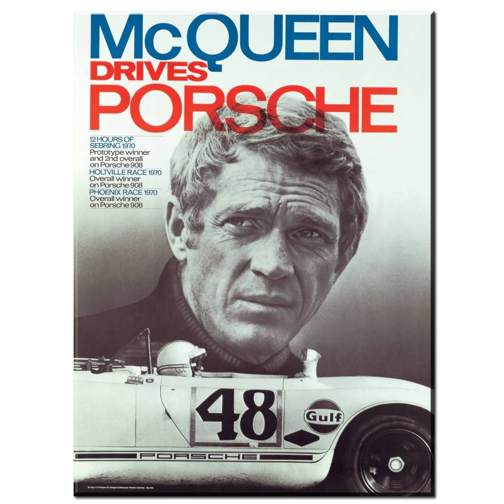 Zz982 Hd Printed Art Canvas Print Poster Steve Mcqueen Tattoo In Most Recent Steve Mcqueen Wall Art (View 19 of 20)