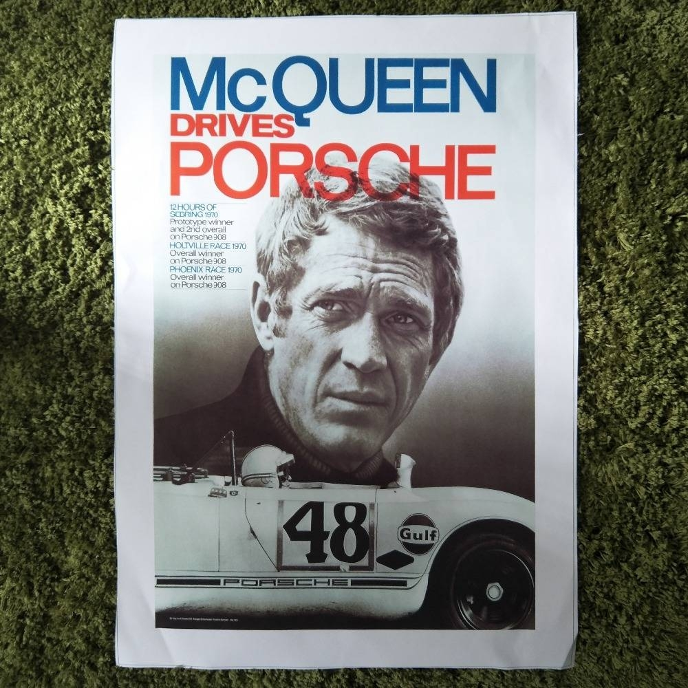 Zz982 Hd Printed Art Canvas Print Poster Steve Mcqueen Tattoo Throughout Current Steve Mcqueen Wall Art (View 20 of 20)