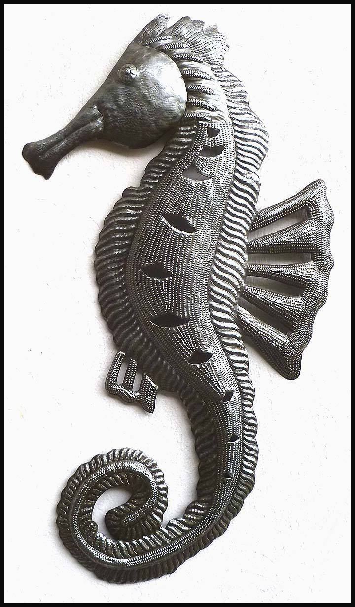 1090 Best Haitian Metal Art Wall Decor – Steel Drum Metal Art Intended For 2017 Seahorse Metal Wall Art (View 18 of 20)