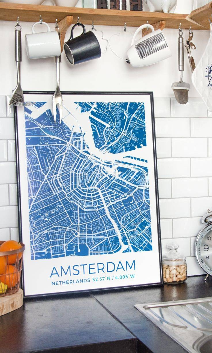 16 Best Custom Map Posters Images On Pinterest | Custom Map, City Inside Most Recently Released Personalized Map Wall Art (View 1 of 20)