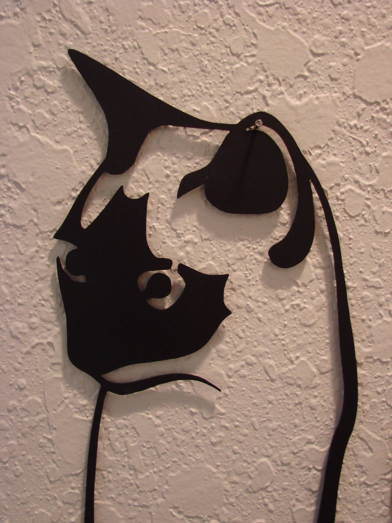 16 Gauge Plasma Cut Kitty Cat Metal Wall Art – : Throughout Latest Cat Metal Wall Art (View 2 of 20)