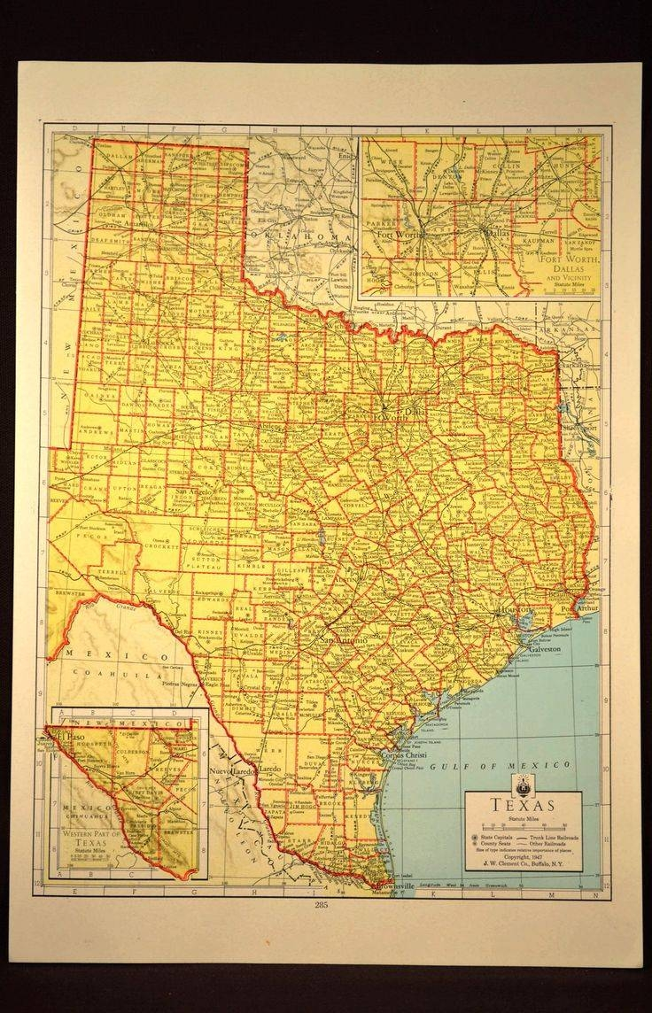 164 Best Map Wall Decor / Antique And Vintage Maps Ii Images On Intended For Most Recently Released Texas Map Wall Art (View 1 of 20)