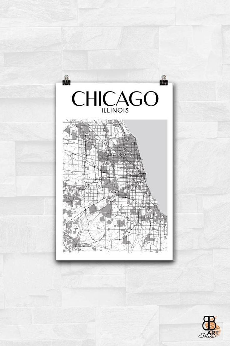 18 Best Los Angeles Prints Images On Pinterest | Los Angeles, Los Pertaining To Latest Chicago Map Wall Art (View 1 of 20)