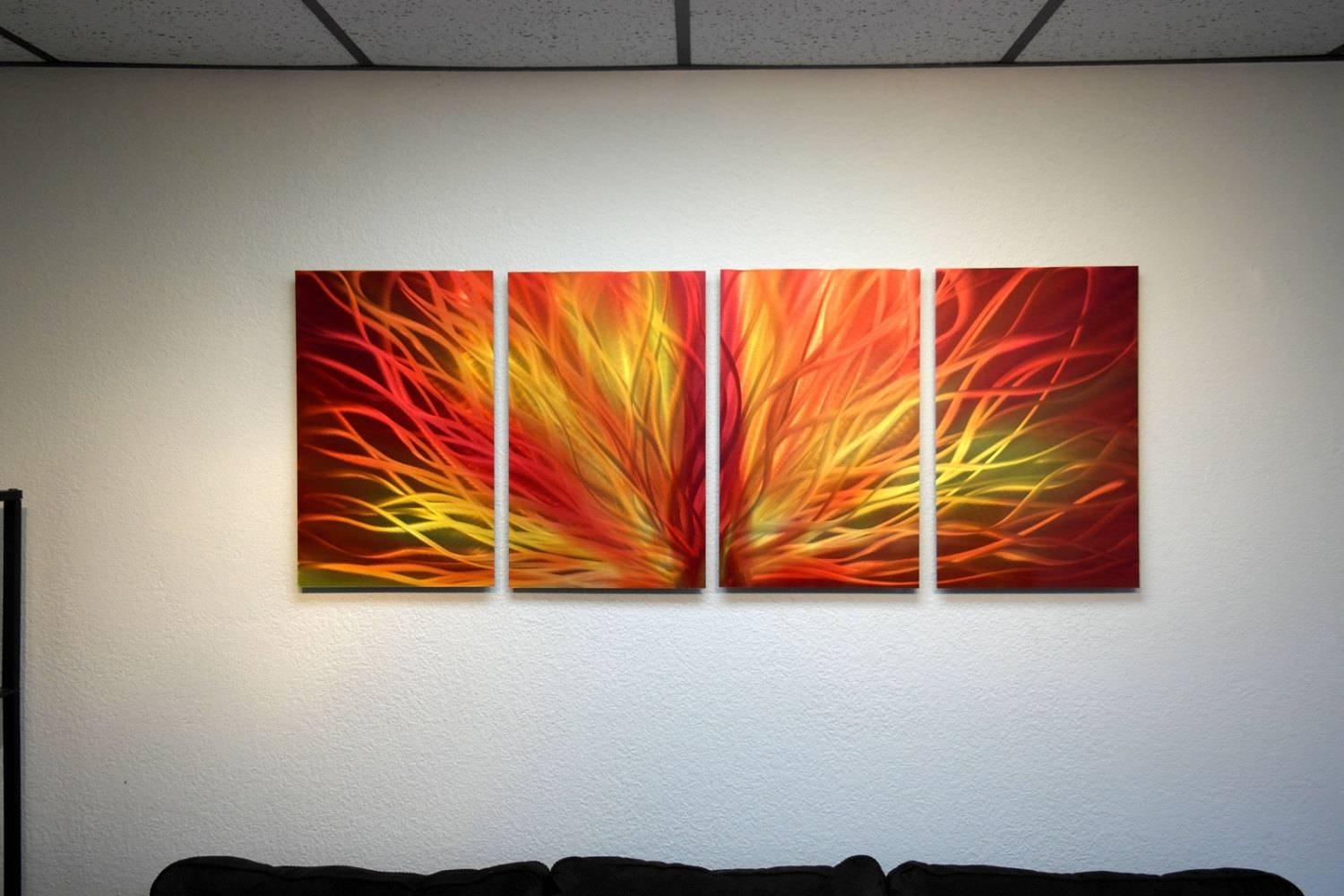 18 Mind Blowing Handmade Modern Metal Wall Art Pieces – Style In Current Orange Metal Wall Art (View 17 of 20)
