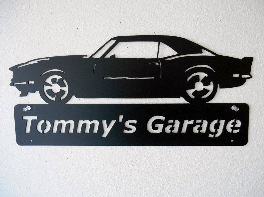 1968 Camaro Metal Car Sign Personalized Metal Wall Art With Regard To 2017 Car Metal Wall Art (View 2 of 20)