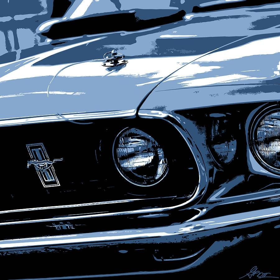 1969 Ford Mustang Mach 1 Photographgordon Dean Ii Within Newest Ford Mustang Metal Wall Art (View 1 of 20)