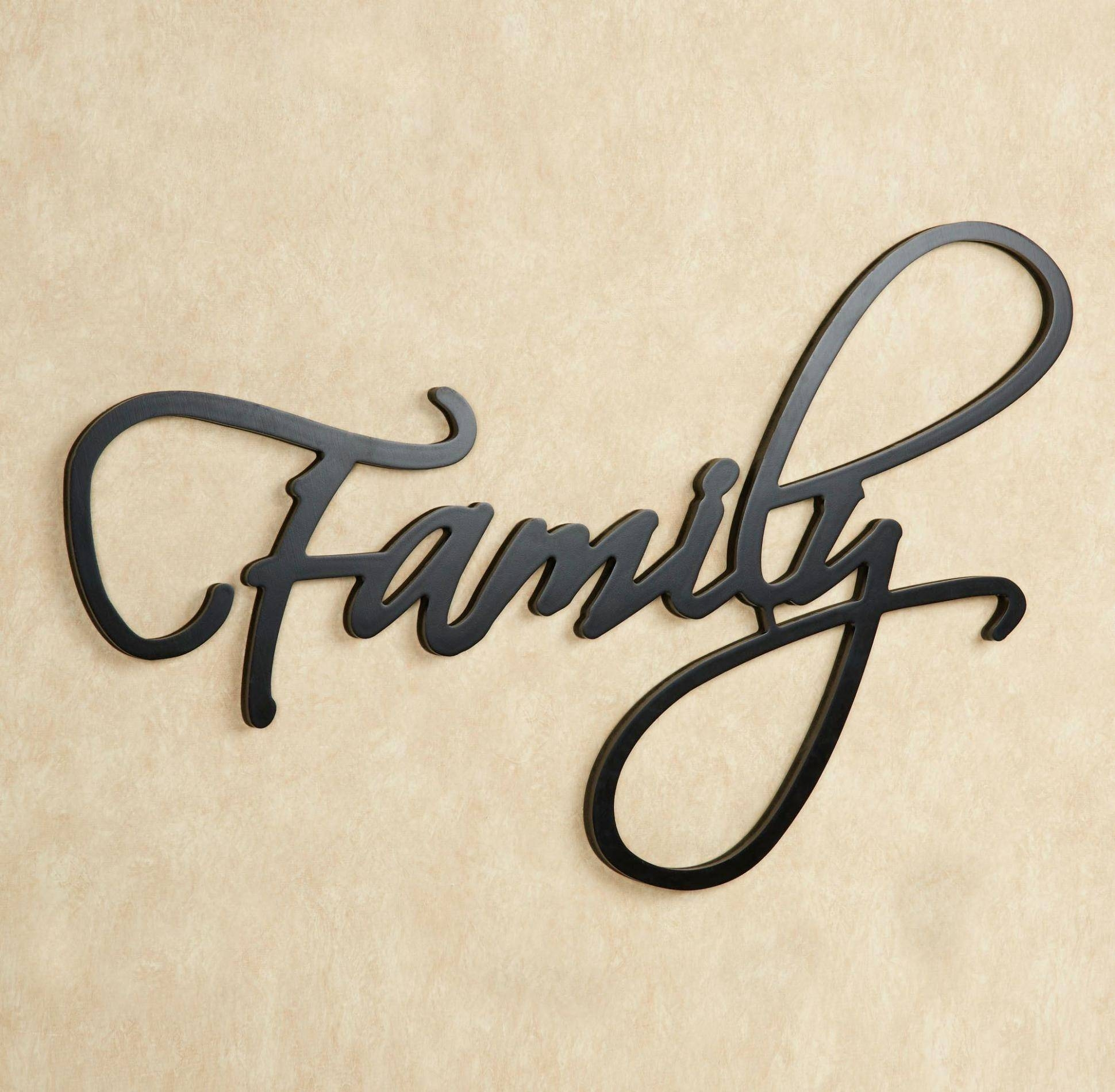 20 Photo Of Family Metal Wall Art Pertaining To Most Current Metal Wall Art Words (View 17 of 20)