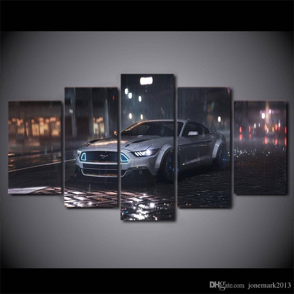 2018 Canvas Art Ford Mustang Car Hd Printed Wall Art Home Decor Regarding Latest Ford Mustang Metal Wall Art (View 2 of 20)
