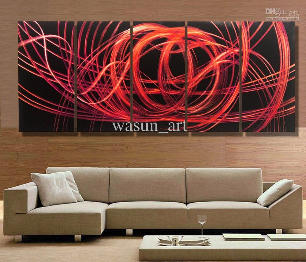 2018 Modern Contemporary Abstract Painting,metal Wall Art Within Best And Newest Painting Metal Wall Art (View 1 of 20)