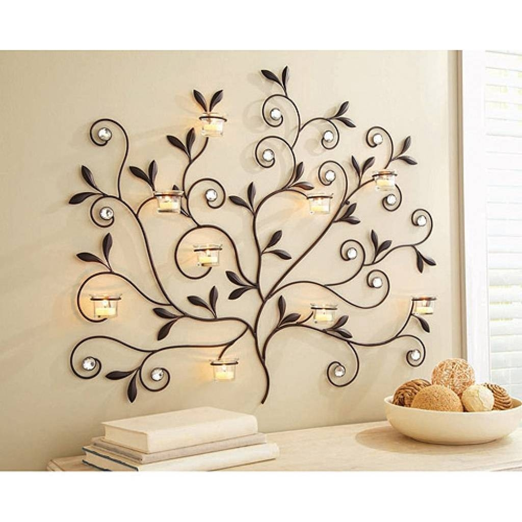 2018 Popular Walmart Metal Wall Art For Recent Metal Wall Art With Candle Holders (View 1 of 20)