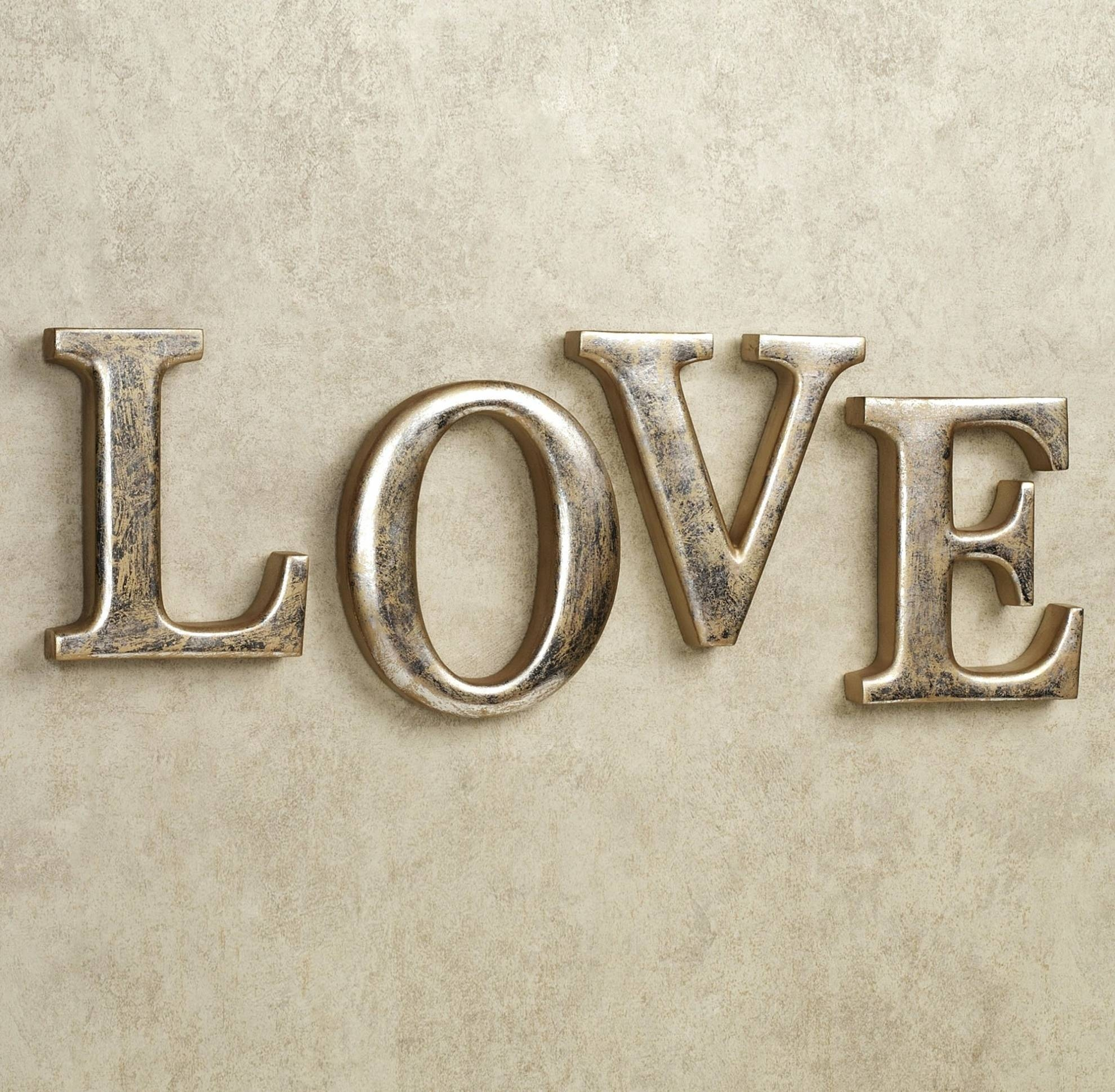21 Best Collection Of Love Wall Art Throughout Latest Love Metal Wall Art (View 1 of 20)