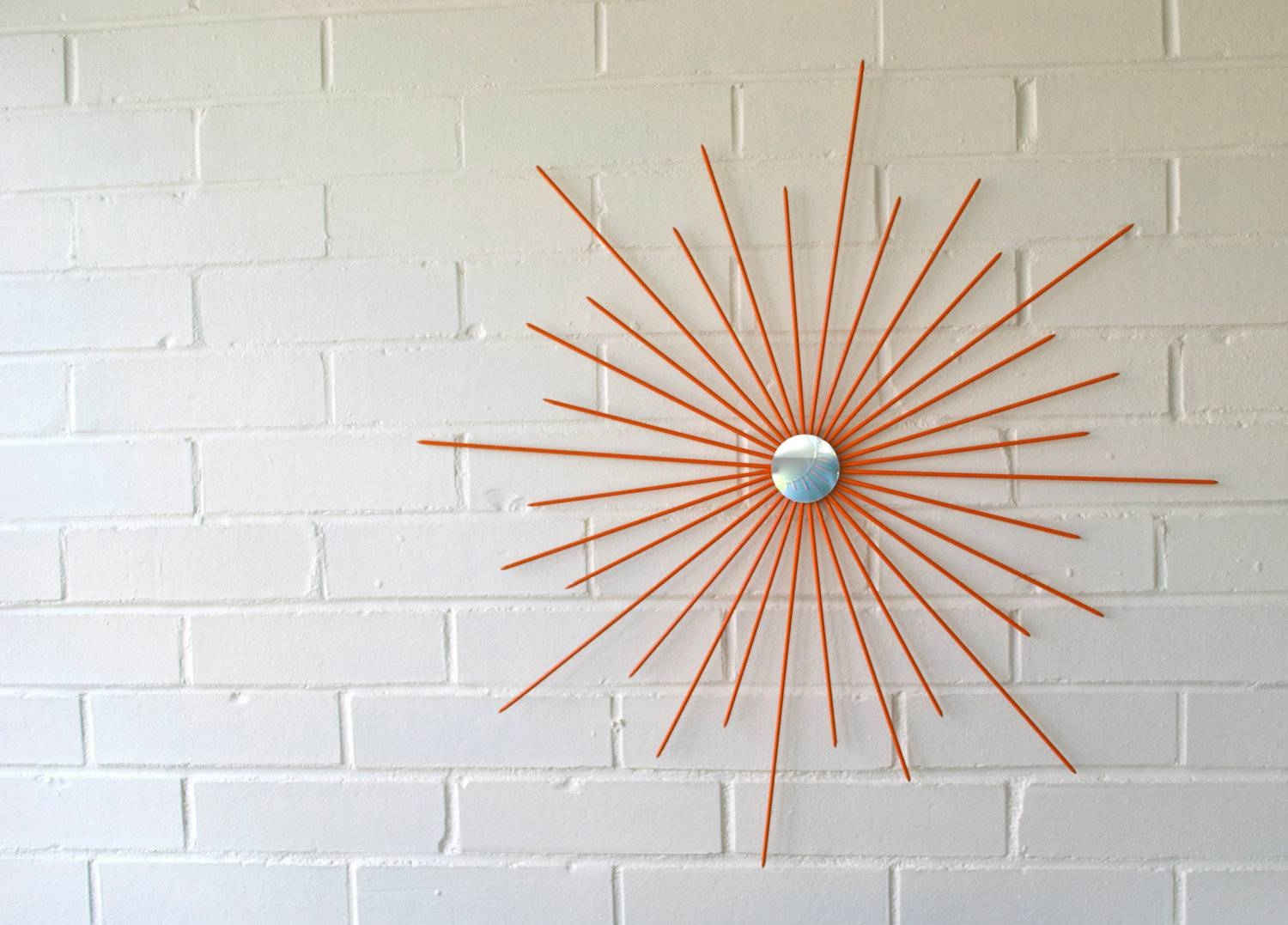 26 Inch New Handmade Steel Modern Starburst Sunburst Wall Art With 2017 Mid Century Metal Wall Art (Gallery 9 of 20)