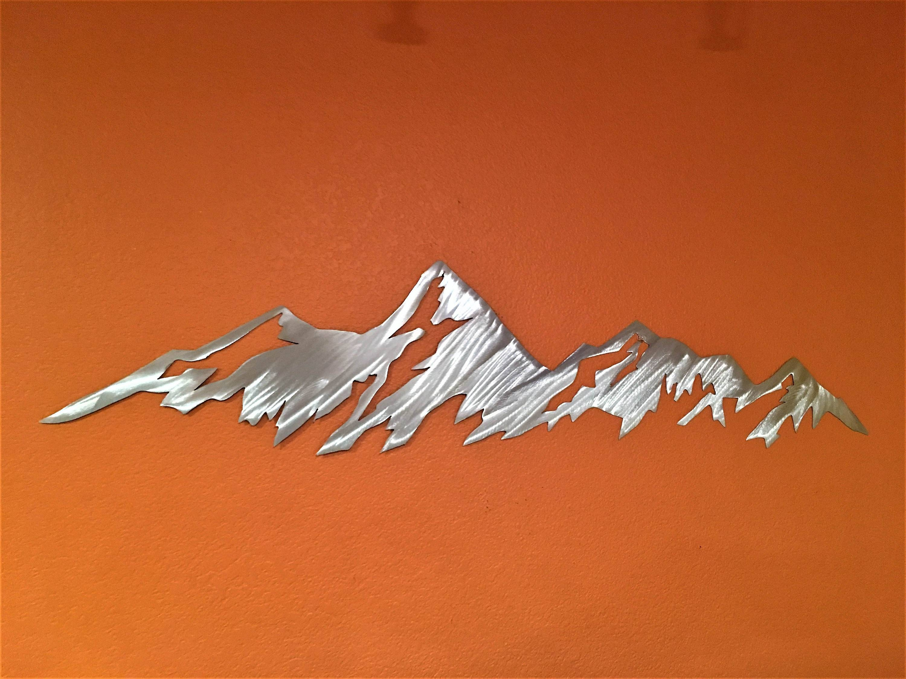 3 Foot Boulder Flatirons. Metal Wall Art. Colorado Mountains Pertaining To Best And Newest Mountains Metal Wall Art (Gallery 15 of 20)
