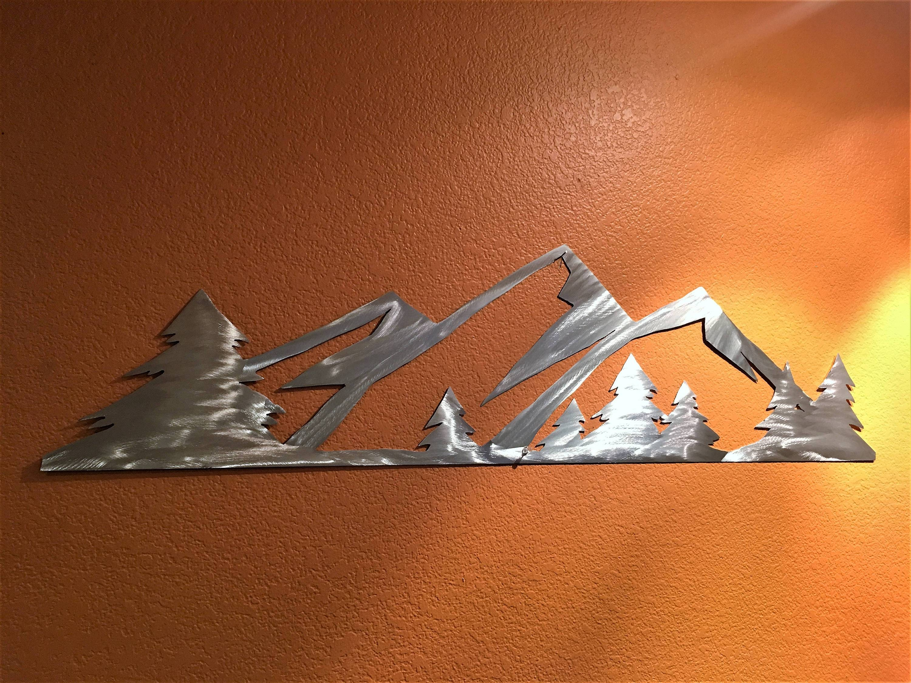 3 Ft. Rocky Mountain National Park. Metal Wall Art (View 4 of 20)