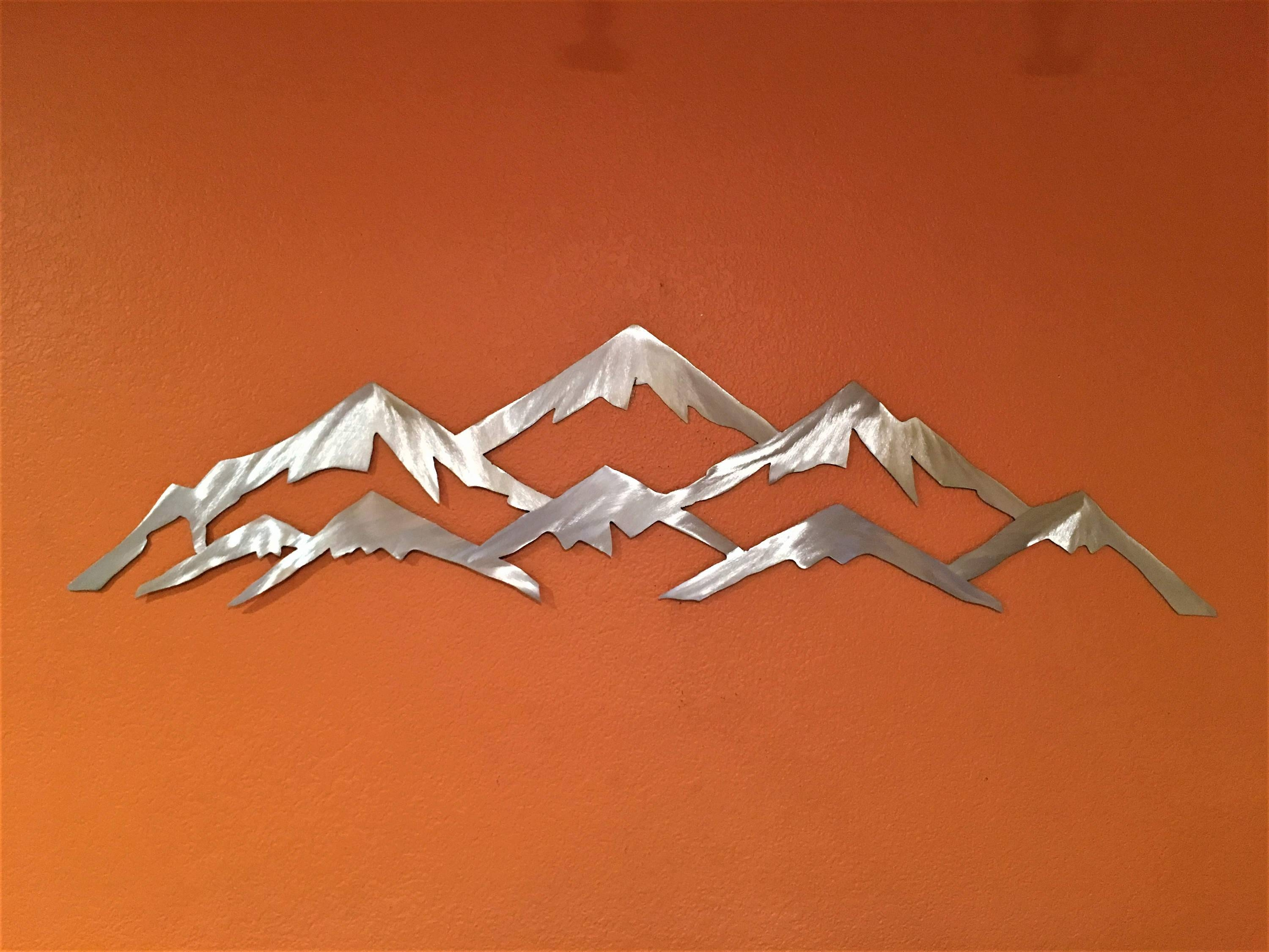 Metal Wall Art Mountains Nature Landscape Intended For Best