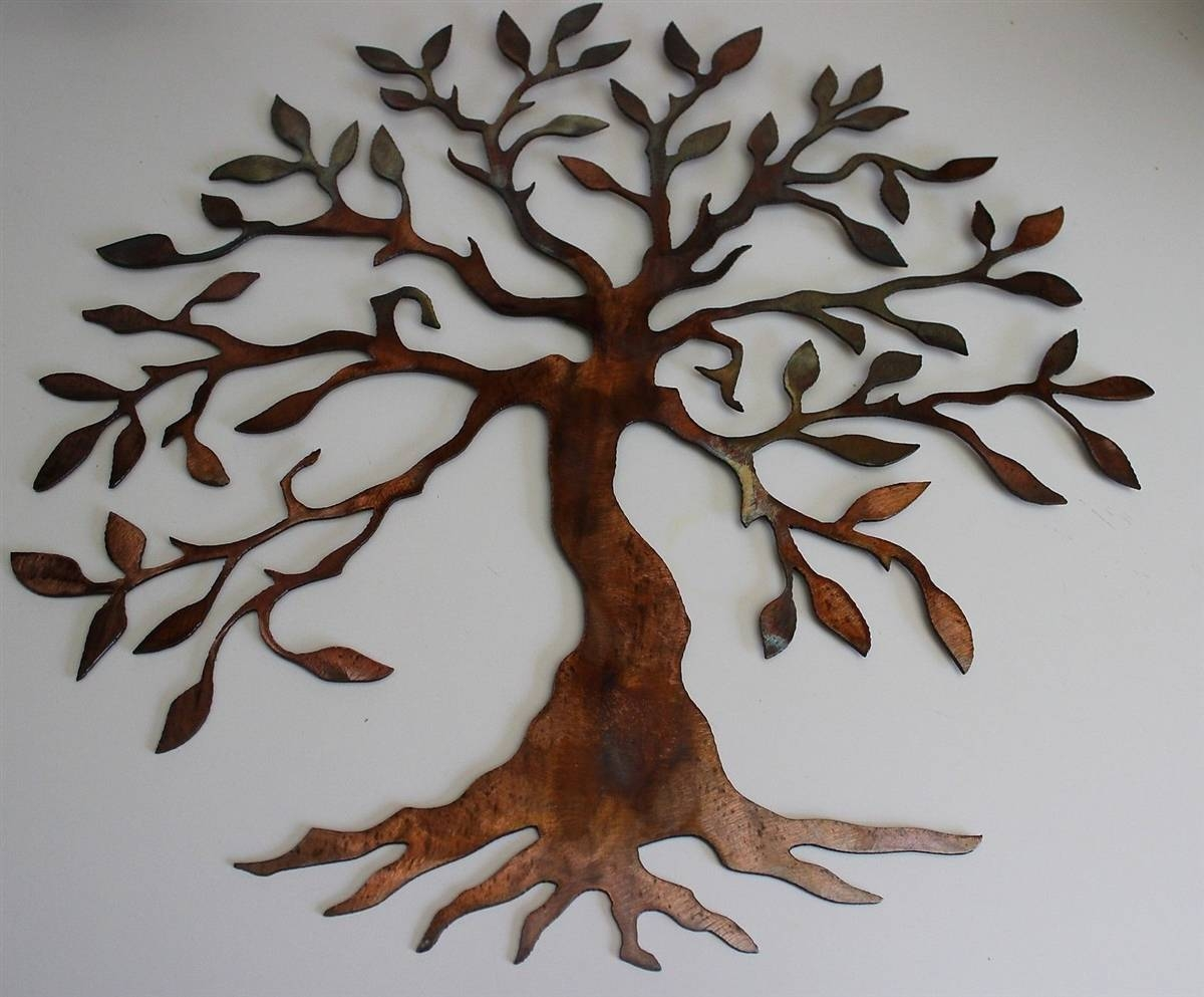 30 Best Ideas Of Oak Tree Metal Wall Art With Most Recent Small Metal Wall Art (Gallery 11 of 20)