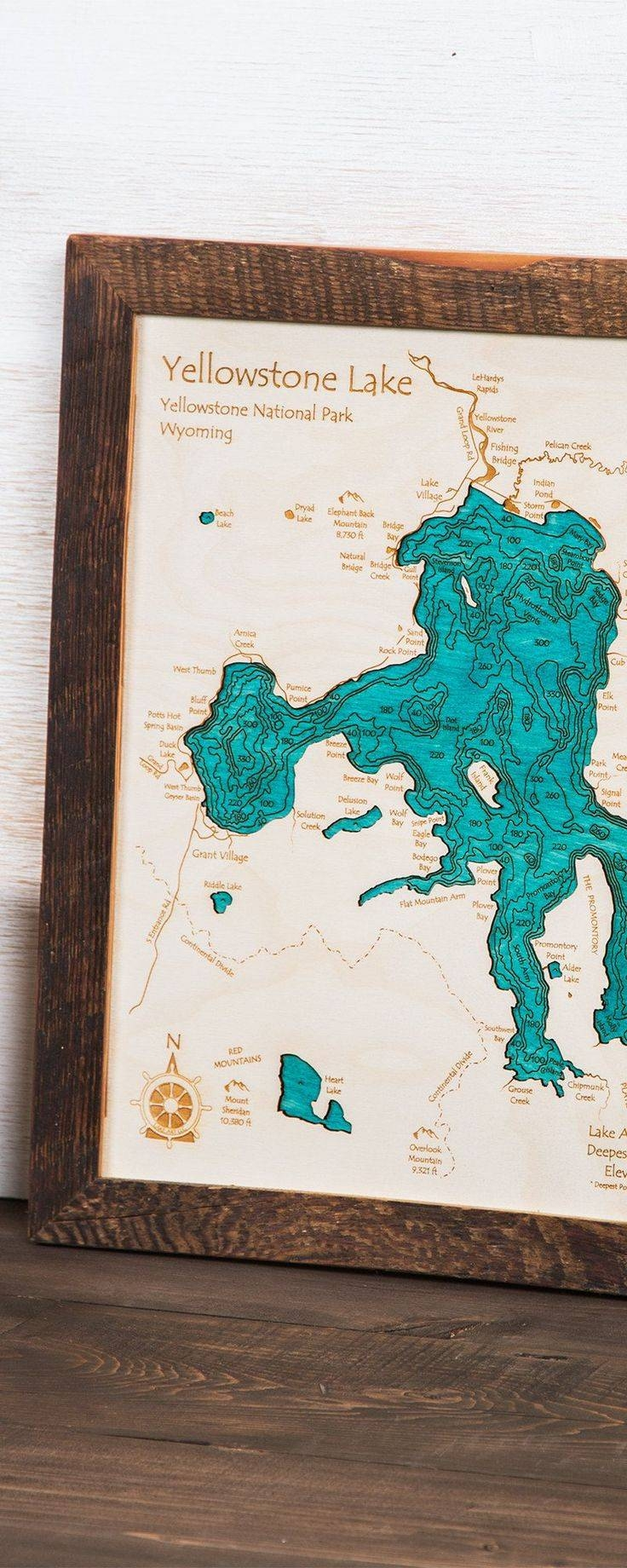 30 Best Map Art Images On Pinterest | Map Art, Baltic Birch And intended for Recent Lake Map Wall Art