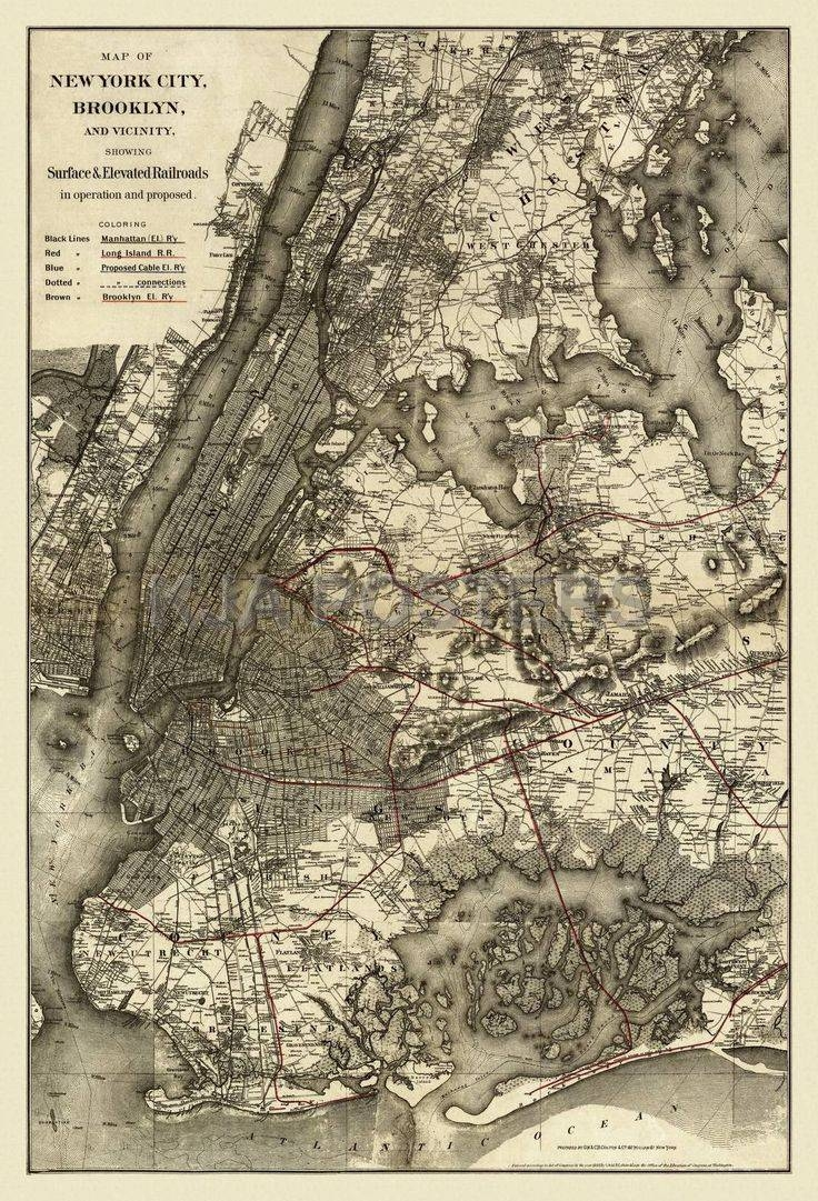 32 Best New York Antique Map Wall Art Images On Pinterest Throughout Best And Newest Nyc Map Wall Art (View 1 of 20)