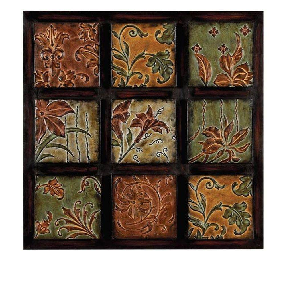 32 In. Multi Colored Metal Wall Decor 99207 – The Home Depot Inside Recent Multi Color Metal Wall Art (Gallery 1 of 20)