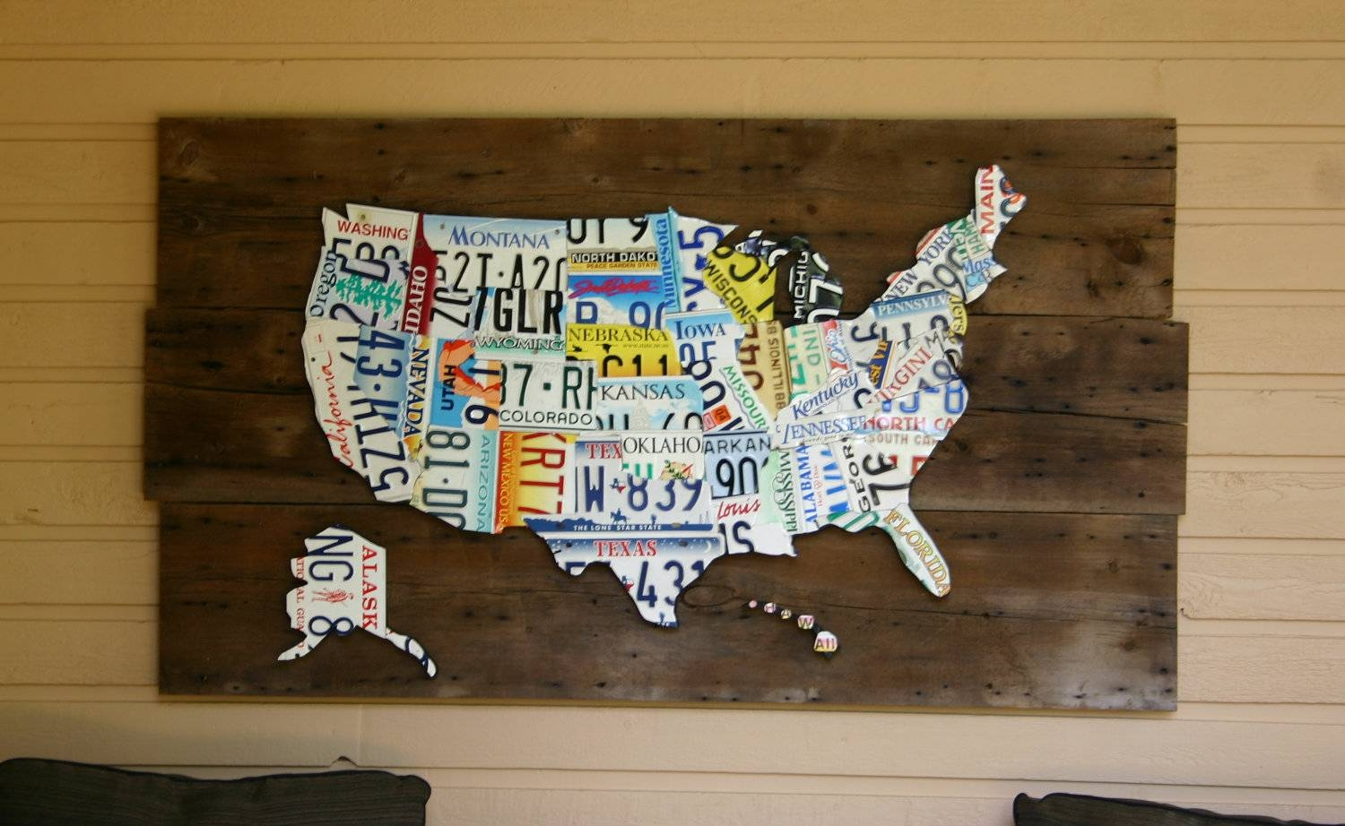 35 License Plate Wall Art My Wall Of Life With Regard To Best And Newest License Plate Map Wall Art (Gallery 1 of 20)