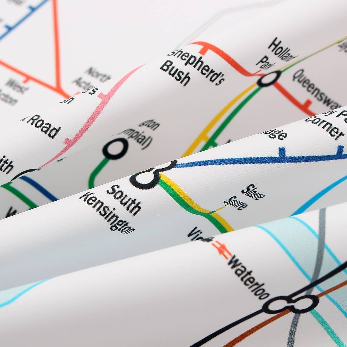 35X23 Inches London Underground Metro Map Retro Wall Art Silk inside Most Up-to-Date Metro Map Wall Art