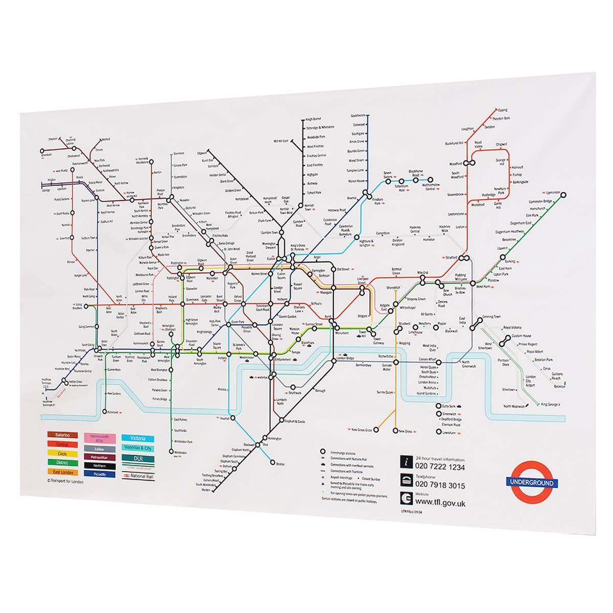 35X23 Inches London Underground Metro Map Retro Wall Art Silk Pertaining To Most Current Metro Map Wall Art (Gallery 6 of 20)