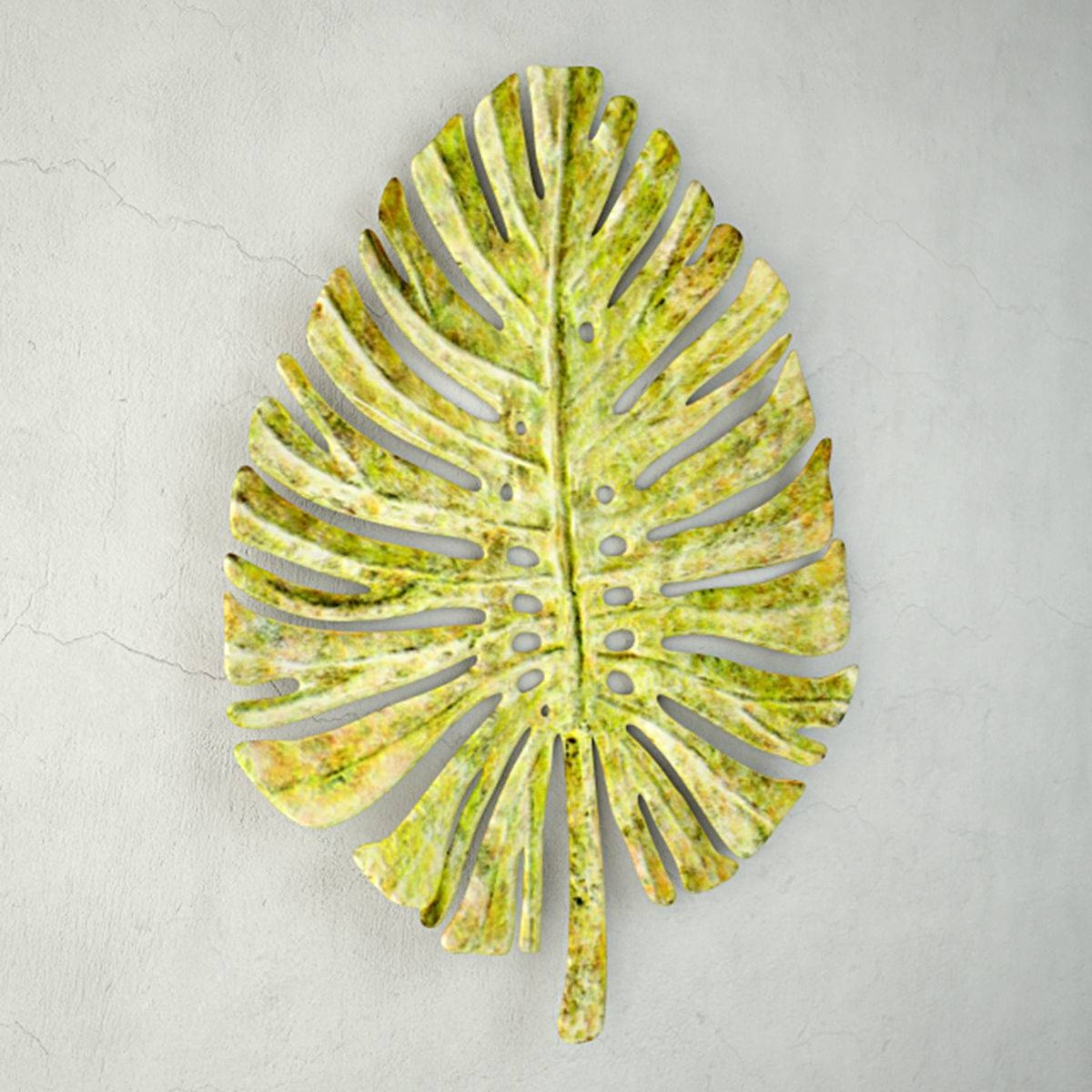 3D Model Green Metal Leaf Wall Art | Cgtrader Throughout Most Recent Green Metal Wall Art (View 2 of 20)