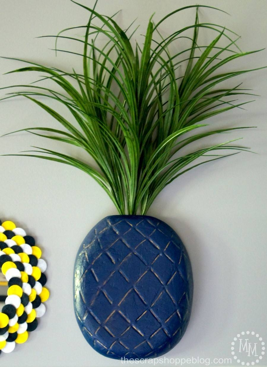 3d Pineapple Wall Art – The Scrap Shoppe Within 2017 Pineapple Metal Wall Art (View 6 of 20)